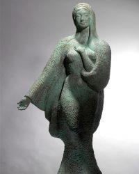 Mary (Bronze) - 32.5 x 17 x 12.5 in / 82.6 x 43.2 x 31.8 cm
