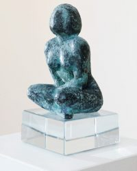 Sitting Woman - 7.5 x 5 x 5 in / 19  x 12.7 x 12.7 cm