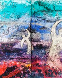 Come to Me (KS182) - 36 x 168 in / 91 x 427 cm